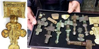 Un tesoro anglosajón descubierto será subastado hasta en £ 80.000