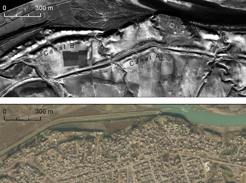 Las cometas del desierto, estructuras de muros de piedra que datan de 5.000 a 8.000 años como las que se muestran arriba, se utilizaron para atrapar gacelas y otros animales similares. El desierto seco del este de Jordania conservó muchos de ellos, pero la expansión agrícola en el oeste de Jordania desmanteló o destruyó muchos más