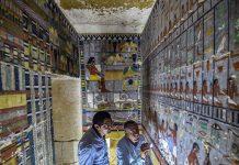 Dan a conocer una colorida tumba de la dinastía que gobernó Egipto hace 4.300 años