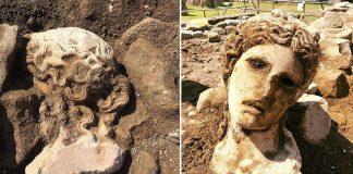 Arqueólogos hallan una cabeza de mármol de 2.000 años de antigüedad del dios del vino Dionisio